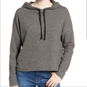 Madewell Gray Cropped Hoodie Sweater Pullover M